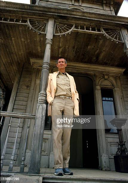 File photo of Actor/Director Anthony Perkins taken 1/10/86 at the house used in the movie 'Psyco Psycho II' on the Universal Studios lot in Studio...