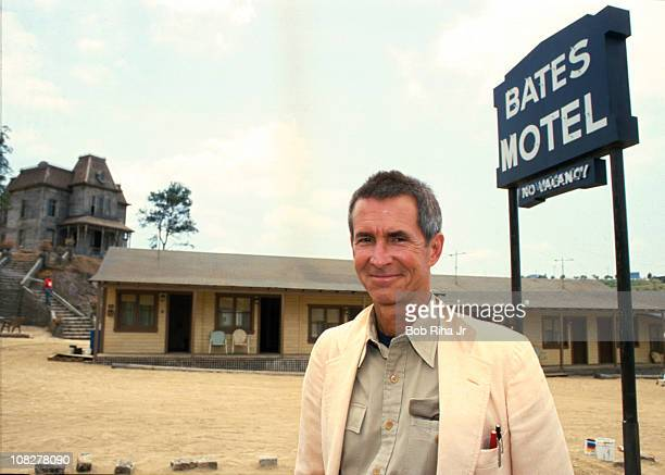 File photo of Actor/Director Anthony Perkins taken 1/10/86 in front of the Bates Motel and the house used in the movie Psyco Psycho II on the...