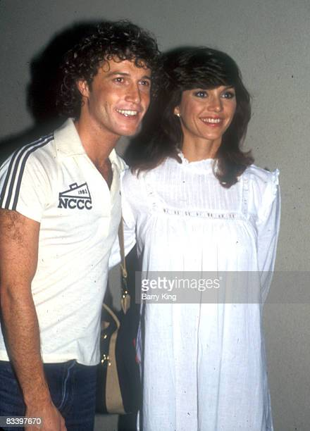 File Photo of Andy Gibb Victoria Principal at the PIrates of Penzance play in Los Angeles California on June 3 1981