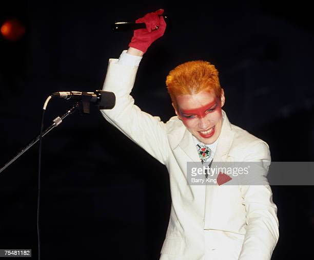 File Photo of Annie Lennox at Eurythmics first concert in Los Angeles at the Palace in Hollywood on July 30 1983 Her current new cd Bare is released...