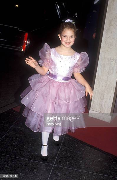 File Photo of Drew Barrymore attending the Golden Globe Awards in Beverly Hills at the Beverly Hilton Hotel on January 29 1983