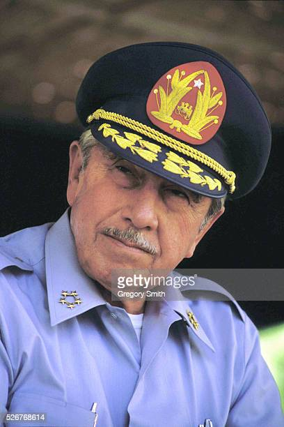 File photo of former military dictator of Chile, Augusto Pinochet, during a military ceremony.