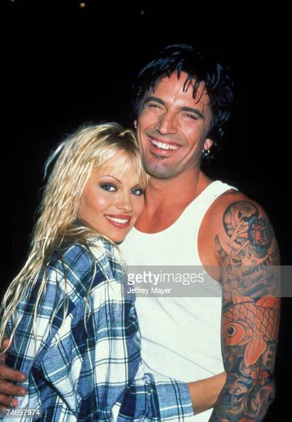 File Photo of Pamela Anderson and Tommy Lee at the Planet Boom in North Hollywood California