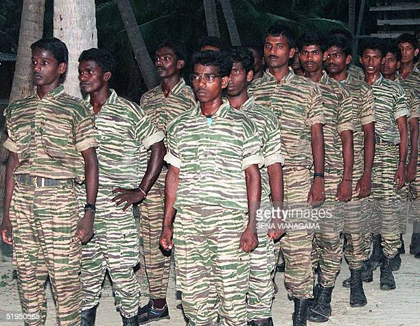 A file photo of September 1994 shows Sri Lanka's Tamil Tiger guerrillas in training at a camp in the northern peninsula near Jaffna when they ran a...