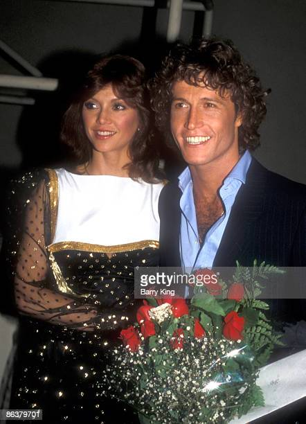 File Photo of Victoria Principal Andy Gibb at the Pirates of Penzance play opening in Los Angeles California on June 10 1981