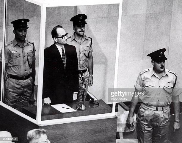 1961 File photo of World War II Nazi officer Adolf Eichmann during his trial in Jerusalem He was found guilty of war crimes against the jews and was...