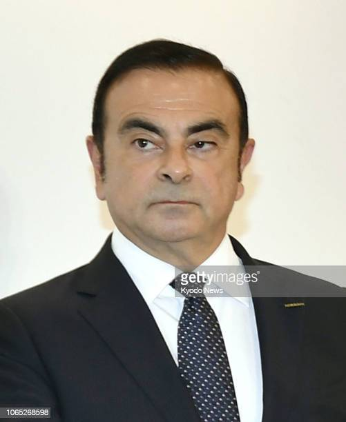 File photo shows Carlos Ghosn who was ousted as chairman of Nissan Motor Co on Nov 22 following his arrest over alleged financial misconduct ==Kyodo