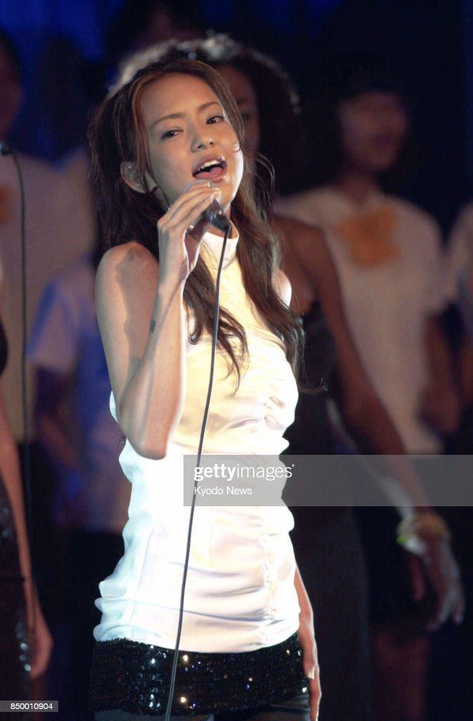 Arkivfoto Viser Populær japansk Singer Namie Amuro-9396