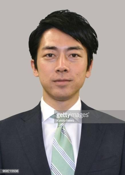 File photo shows Shinjiro Koizumi chief deputy secretarygeneral of Japan's ruling Liberal Democratic Party The son of former Prime Minister Junichiro...