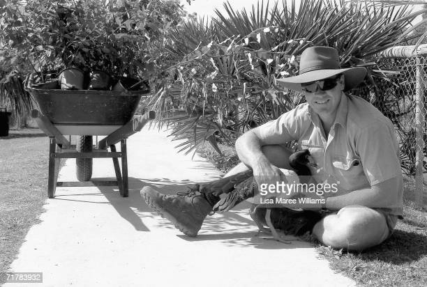 File photo shows Steve Irwin, known as the Crocodile Hunter, at his Australia Zoo in 1996 in Beerwah, on the Sunshine Coast, Australia. Irwin died...