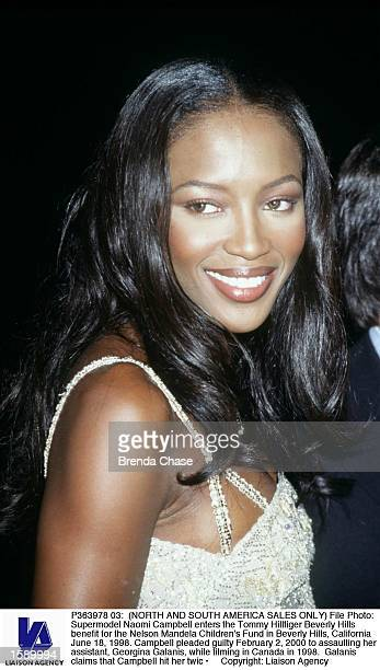 File Photo Supermodel Naomi Campbell enters the Tommy Hillfiger Beverly Hills benefit for the Nelson Mandela Children's Fund in Beverly Hills...