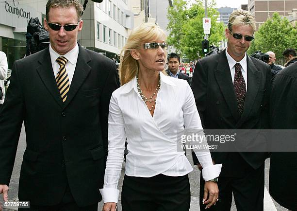 A file photo taken 04 November 2004 shows physical education teacher Karen Ellis and her husband Stephen Ellis leaving court after Karen Ellis...