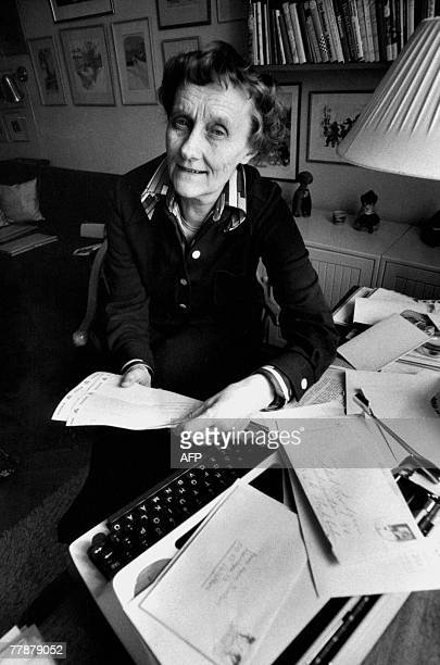 A file photo taken 11 March 1976 shows Swedish writer Astrid Lindgren posing in her home in Stockholm Lindgren who would have been 100 14 November...
