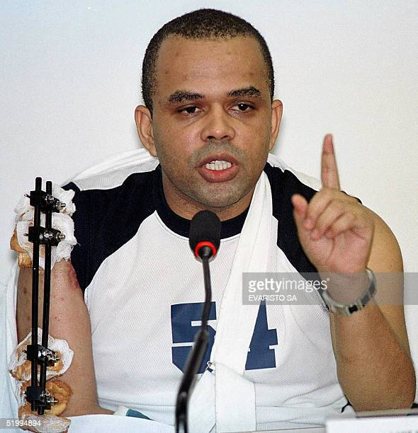 File photo taken 15 May 2001 in Brasilia of drug traffiker Luiz Da Costa known as Fernadinho Beira Mar Fotograffa tomada el 15 de mayo de 2001 en...