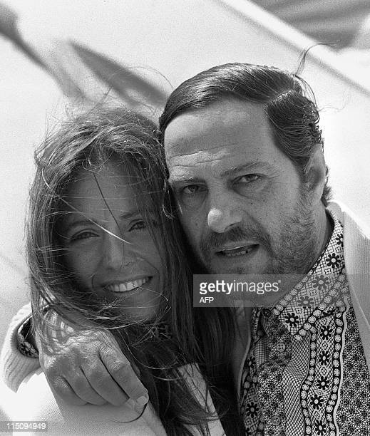File photo taken 22 May 1971 during Cannes film festival of Italian actor and director Nino Manfredi with his wife Erminia Ferrari Manfredi has died...