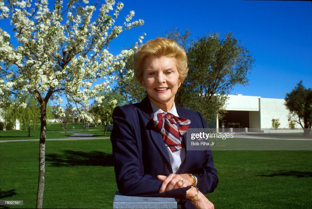 File photo taken 2/5/87 of First Lady Betty Ford in front of the Betty Ford Clinic at Rancho Mirage, California.