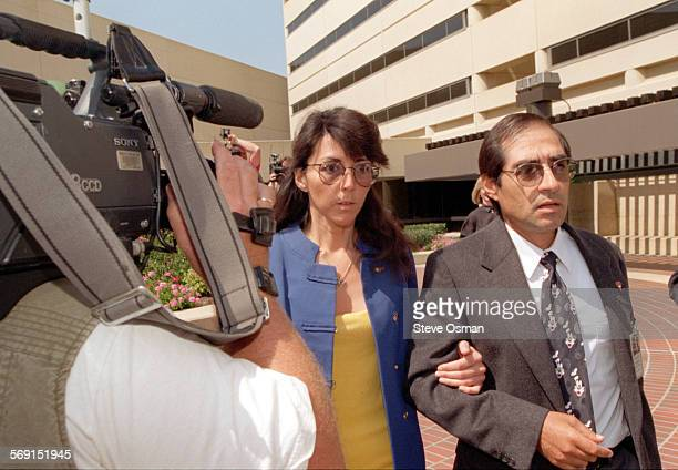 File photo taken 5/23/96 of Diana Haun leaving jail after investigators revealed they did not have enough evidence to charge her with the murder