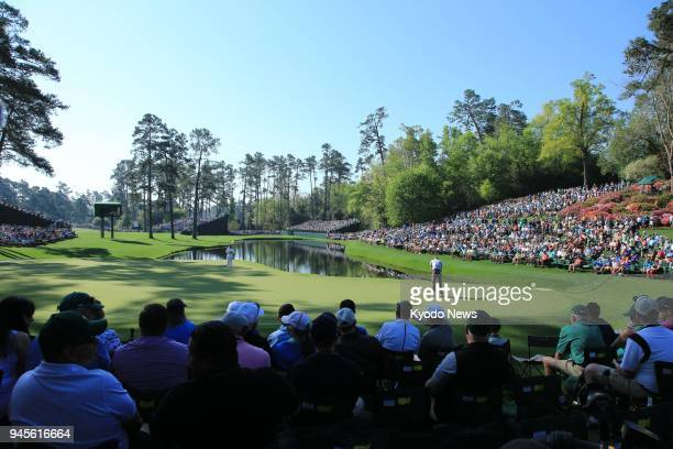 File photo taken April 3 shows the 16th hole green at Augusta National Golf Club in Augusta Georgia at which the Masters is played annually ==Kyodo