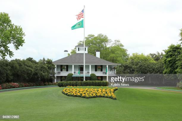 File photo taken April 4 shows the clubhouse at Augusta National Golf Club in Augusta, Georgia, at which the Masters is played annually. ==Kyodo