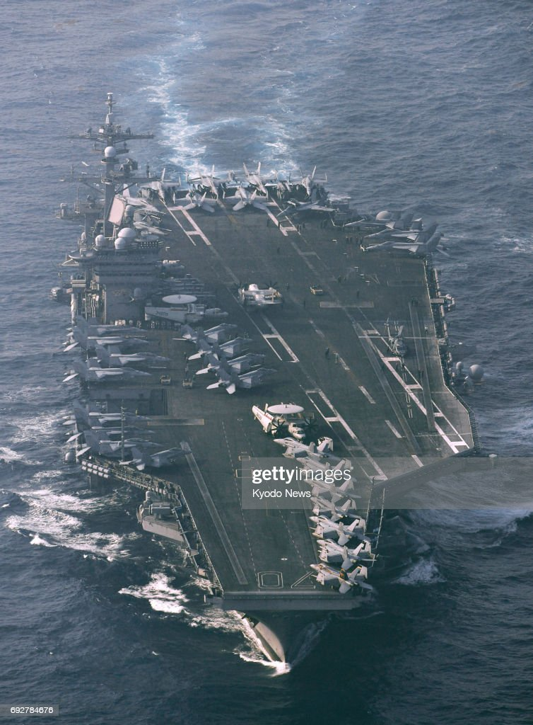 File photo taken in April 2017 shows the U S  aircraft carrier Carl