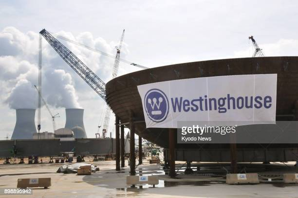 File photo taken in August 2013 shows the Nos 3 and 4 reactors of the Vogtle power plant being constructed by contractor Westinghouse Electric Co a...