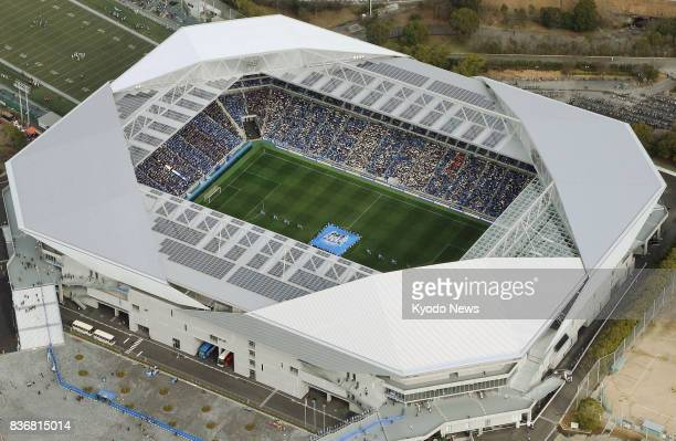 File photo taken in February 2017 shows Suita City Football Stadium home to JLeague soccer team Gamba Osaka It was reported on Aug 22 that the...
