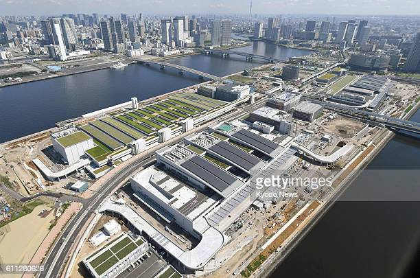 File photo taken in July shows Tokyo's Toyosu market area where the famous Tsukiji fish market is planned to be relocated The Tokyo metropolitan...