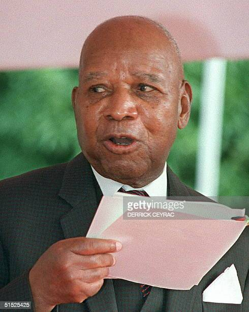 File photo taken in May 1989 in Blantyre shows former dictator of Malawi Kamuzu Banda Banda died late 25 November at a clinic in Johannesburg where...