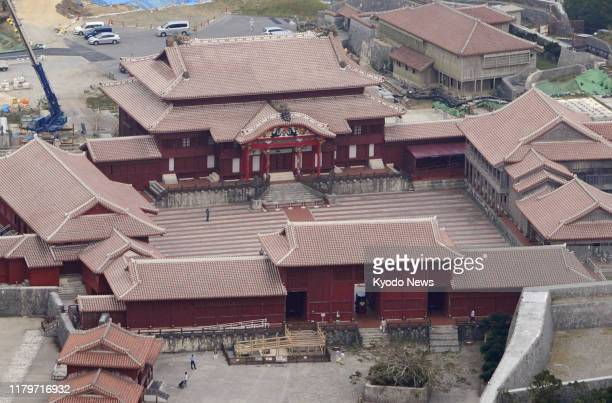 File photo taken in Naha Okinawa Prefecture southern Japan in October 2012 shows Shuri Castle A predawn fire on Oct 30 engulfed the buildings at the...