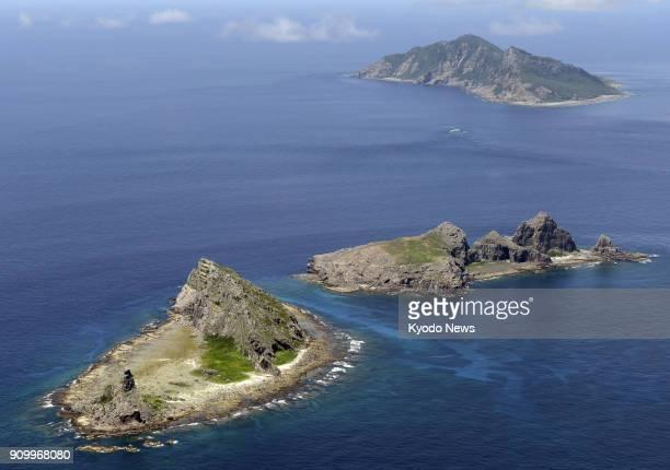 File photo taken in September 2012 shows the Senkaku Islands in the East China Sea ==Kyodo