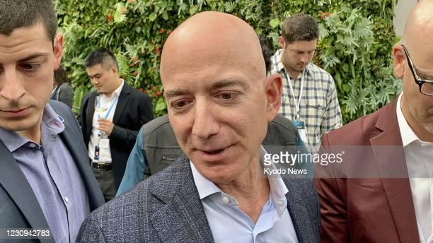 File Photo taken in September 2019 shows Amazon.com Inc. Founder Jeff Bezos in Seattle, Washington. Amazon said on Feb. 2, 2021 that Bezos will be...