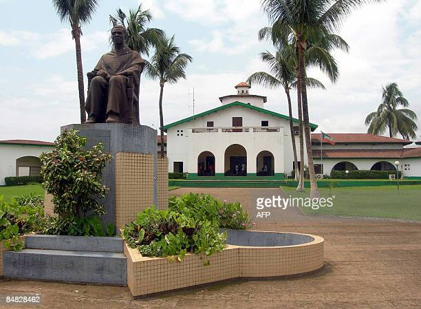 File photo taken July 11 shows a statue representing President Teodoro Obiang Nquema in Malabo Equatorial Guinea On February 17 Nigeria's main...