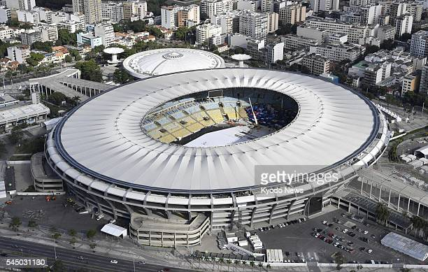 File photo taken June 28 from a helicopter shows the Maracana Stadium to be used for the opening and closing ceremonies of the Rio de Janeiro...