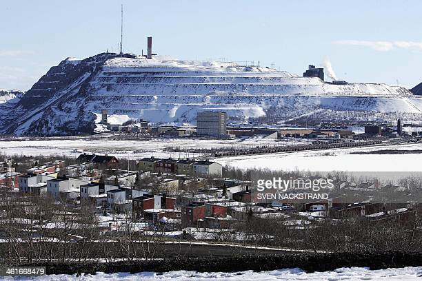File photo taken May 18 2005 shows a general view of Sweden's most northerly town Kiruna the site of its iron mine in the background The town has...