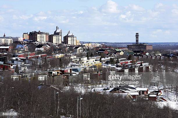 File photo taken May 18 2005 shows a general view of Sweden's most northerly town Kiruna The town has long known it must relocate due to underground...