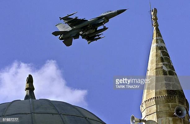 A file photo taken November 2001 shows US airforce F16 warplane ready to land at Incirlik Airbase southern Turkey The United States would like to use...