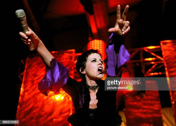 FILE A file photo taken on 27 March 2010 shows Irish singer Dolores O'Riordan of the Irish rock band 'The Cranberries' performing on stage in Berlin...