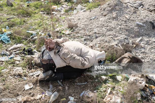 Image depicts death A file photo taken on 30 January 2017 in Mosul Iraq show the dead bodies of victims of execution Two men with tied hands were...