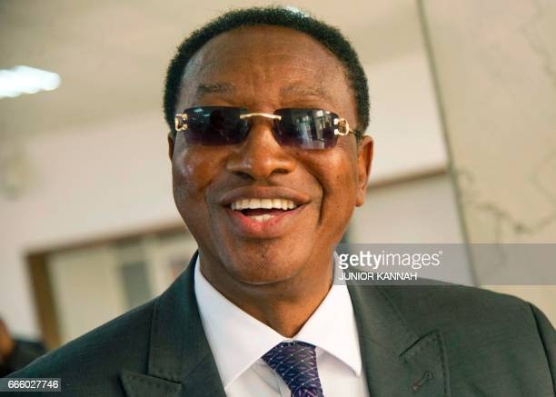 A file photo taken on April 4 2017 shows newly appointed Congolese Prime Minister Bruno Tshibala in Kinshasa Congolese President Joseph Kabila on...