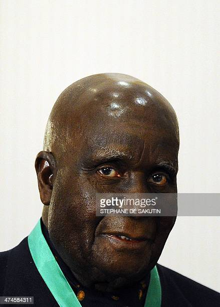 A file photo taken on August 17 2010 shows former and first Zambian President Kenneth David Kaunda delivering a speech during the closing ceremony of...