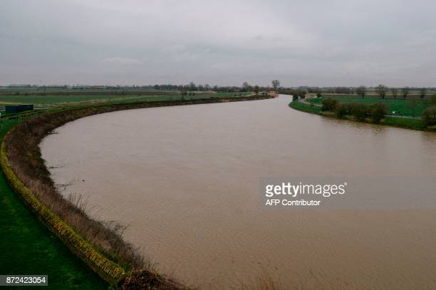 A file photo taken on February 14 2014 shows the Yzer river where the World War One Battle of Yzer began in October 1914 near Diksmuide West Flanders...