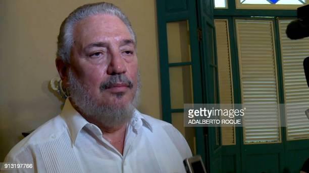 File photo taken on June 1 2016 of Cuban Fidel Castro DiazBalart son of Cuban leader Fidel Castro Fidel Castro's eldest son committed suicide Cuba...