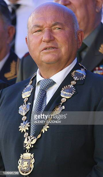 A file photo taken on September 7 2008 shows the Moscow Mayor Yuri Luzhkov at a ceremony in the Russian capital Moscow's strongman mayor who came to...