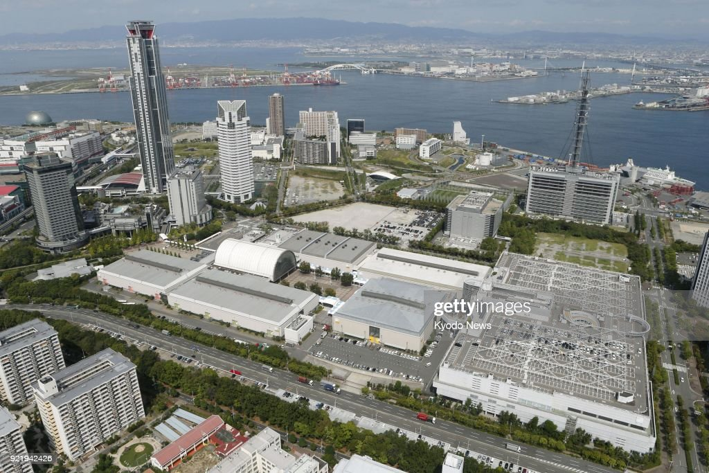 File photo taken Sept. 14, 2017, shows the Intex Osaka convention center, the planned venue of the 2019 summit of the Group of 20 advanced and emerging economies. ==Kyodo