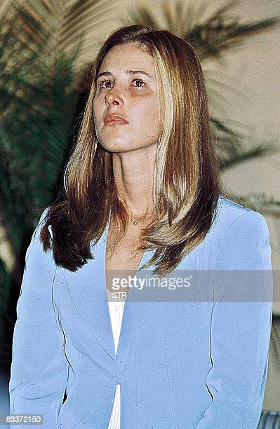 File photo without date of Cecilia Cubas Gusinsky daughter of former Paraguayan president Raul Cubas who was kidnapped on September 21 2004 in...