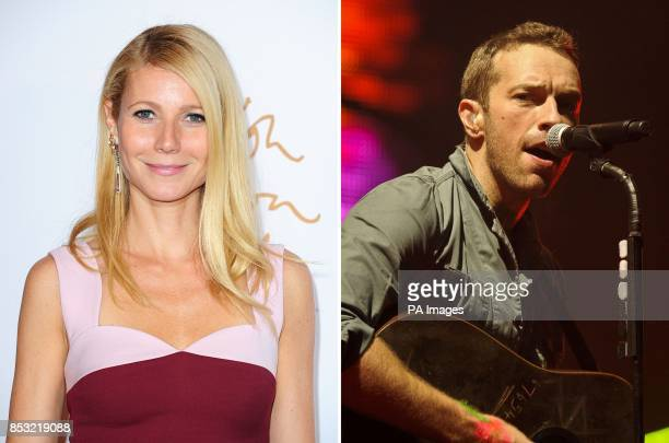 File photos dated 02/12/13 and 25/06/11 of Hollywood actress Gwyneth Paltrow and Coldplay frontman Chris Martin who have announced that they have...