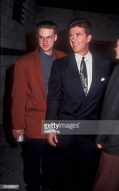 File photos of Alan Thicke sons Robin Thicke and his brother Brennan in Los Angeles California