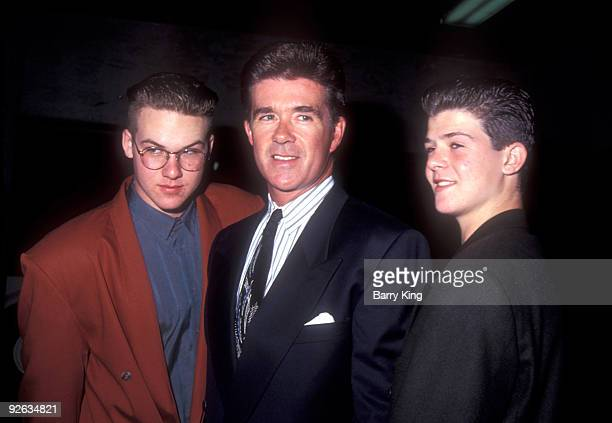 File photos of Alan Thicke sons Robin Thicke and his brother Brennan