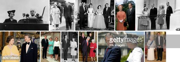 File photos of Queen Elizabeth and the American Presidents that have served terms during her reign Harry Truman Dwight D Eisenhower John F Kennedy...