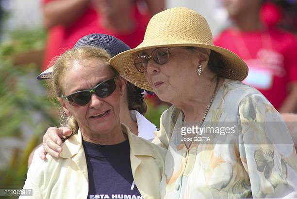 File photos of Raul Castro's wife Vilma Espin who died on June 18th 2007 in Havana Cuba File photo of Raul Castro's wife Vilma Espin Right taken on...